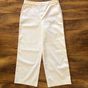 Lord&Taylor 424 Fifth White Tuxedo Stripe Pants 10